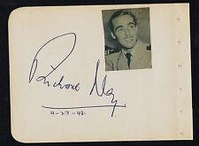 Richard Ney (d. 2004) signed autograph 4x5 Album Page Actor: Mrs. Miniver (1942)