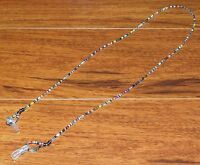 "Tiny Colorful Beaded Eyeglass Glasses Holder Leash Necklace Chain 27"" Inches"
