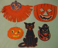 Antique Halloween Decorations Bundle of 5