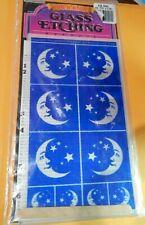 Rub N Etch Glass Etching Stencil Moon Stars Armour Products No. 20-0401 Unopened