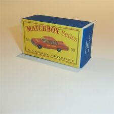 Matchbox Lesney 59 b Fairlane Fire Chief 59 empty Repro D style Box