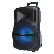 Fisher 15-Inch Portable Wireless Speaker System, Colorful Lights, Remote Control