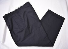Monsieur By Givenchy Dark Gray 100% Worsted Wool Dress Pleat Trousers Sz: 36x28