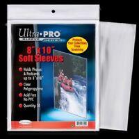 "(100) Ultra Pro 8"" x 10"" Soft Photo / Card Sleeves 8x10 Acid Free Archive Safe"