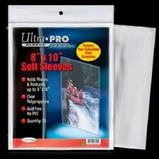 "(100) Ultra Pro 8"" x 10"" Soft Photo / Card Sleeves 8x10 Acid Free Archive Safe"