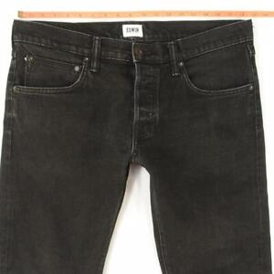Mens EDWIN ED55 RELAXED TAPERED Stretch Grey Selvage Jeans W36 L32