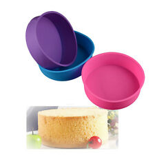 Round Shape Silicone Mold Cake Pan Mould Bread Toast Bakeware DIY Baking Tool