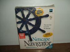 NETSCAPE NAVIGATOR Personal Edition BIG BOX w CD ROM Disk Internet Browser NICE!