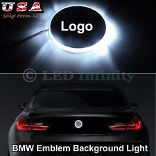 1X BMW 1 3 5 7 X Series 82mm Xenon White LED Emblem For Background Logo Light