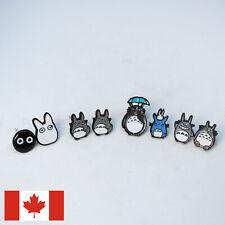 4 pairs of small Totoro stud Earrings - studio ghibli anime cute kawaii enamel