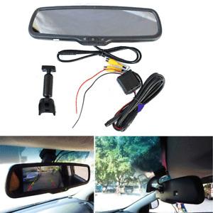 "4.3"" Auto Dimming Car Rear View Mirror LCD Monitor 2CH Video Anti-Glare+Bracket"