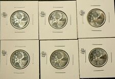 1965 Canada 25 Cents Silver Lot of 6 from Unc Roll #5042
