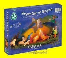 OSTHEIMER 60205 Krippen Set mit Figuren und Diorama 11 teilig - NEU