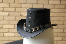 Top Hat, Steampunk, Goth, Grunge, Genuine Leather