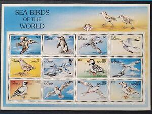 Gambia 1997 / Sea Birds - Kittiwake, Albatross, Terns, Puffin... / 12v ms*