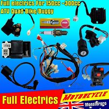 full motorcycle electrics wiring harness loom solenoid coil 150cc 250cc quad electrics 150 200cc zongshen lifan ducar razor cdi coil wire harness