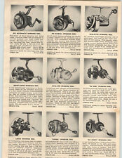 1953 PAPER AD Lasso Spinning Fishing Reel Ru Mer Monti Fix Spin Flyte Bronson