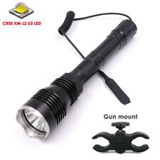 500Meters Long Range Light 1mode 802 Cree XM-L2 U3 LED Hunting Flashlight Torch