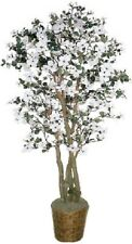 Artificial 6' Dogwood Tree Plant Topiary Palm Flower Floral Basket Arrangement