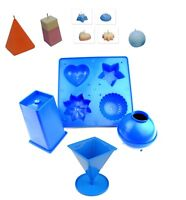 Set of 4 Candle Moulds, 1 x Tray, 1 x Rectangular, 1 x Pyramid, 1 x Sphere S7556