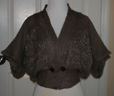 Buckle BKE Boutique Lt Brown Cardigan XS 3/4 Sleeve Sweater, Double Breasted