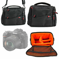 Black Handle Bag Case For Nikon D500 Digital SLR Camera w/ Adjustable Interior