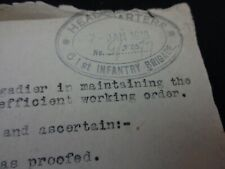 More details for ww1 (1918) british army hq document entitled
