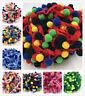 5YBall Rainbow PomPom Bobble Trim Braid Fringe Ribbon Craft Decor more color