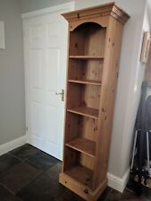 Solid Pine Tall Narrow Bookcase - collect from OX11