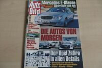 1) Auto Bild 08/2002 - Mercedes E 240 Classic mit  - Nissan Primera 1.8 acenta m