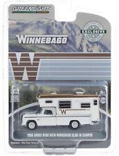 1:64 GreenLight *HOBBY EX* WHITE 1966 Dodge D-100 w/Winnebago Slide-in Camper