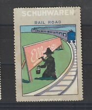 German Poster Stamp Shoes Train