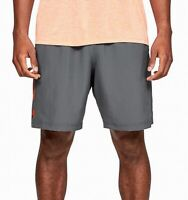 Under Armour Mens Shorts Orange Gray Size XL Woven HeatGear Loose Fit $30 073