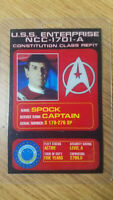 Star Trek Id Badge-Captain Spock USS Enterprise NCC-1701-A prop costume cosplay