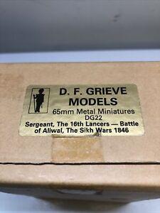 D F Grieve Models 65mm Sergeant 16th Lancers Battle of Aliwal, Sikh Wars 1846