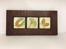 Fay Jones Day Acorn Gingko Pine Art Tiles Framed Arts Crafts Mission Oak Park
