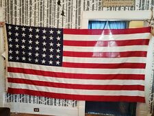 "Vintage 48 Star US American Nation Flag Sewn Stars VGC 9'6"" x 4'9"" MAKE OFFER!"