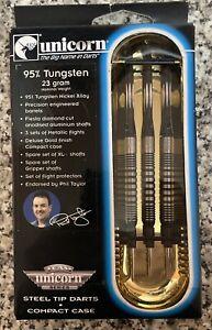 Rare Unicorn Phil Taylor 23G 95% Tungsten Darts BNIB