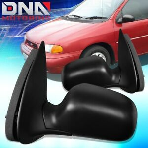 FOR 1995-1998 FORD WINDSTAR PAIR OE STYLE MANUAL SIDE DOOR MIRROR REPLACEMENT