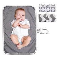 Nouveau-né bébé portable pliable lavable Voyage Nappy Couches tapis de jeu