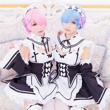 Rem Ram Sister Cosplay Dress Re:Zero kara Hajimeru Isekai Seikatsu Fancy Dress