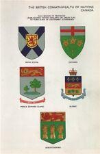 CANADA PROVINCES FLAG BADGES Nova Scotia Ontario PEI Quebec Saskatchewan 1958