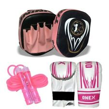 Kids Pads and Gloves Set Fitness Focus Punch Bag Curved Boxing Junior Jabs Mitt