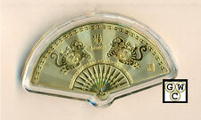 Chinese Lunar Calendar  Fan Shaped 24K Gold-plated Animal Medallion (Monkey)