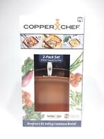 """Copper Chef 2 Pack Set Square Fry Pan NEW in box 8"""" & 9.5"""""""