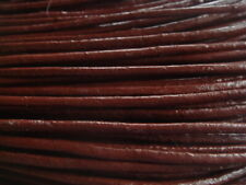 2mm brown leather cord string 5 meters