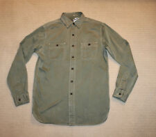 NEW Polo Ralph Lauren Washed Herringbone Twill Olive Green Military Shirt