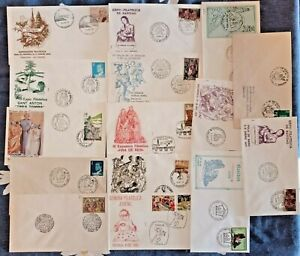 L7859 SPAIN  CHRISTMAS LOT OF 15  FIRST DAY COVERS