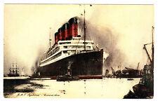 RMS AQUITANIA Post Card, 1920s -- Cunard Line