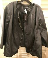 LAFAYETTE 148 New York Zip Front Jacket Plus 20W Pewter $568 NWT